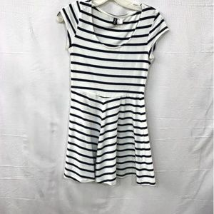 Divided Striped Skater Fit Flare Dress Size 8